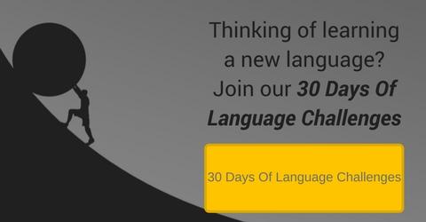 30 days of language challenges banner
