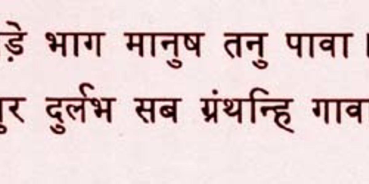 hindi script