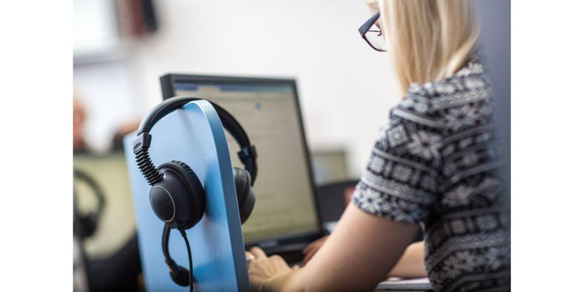 interpreter at computer